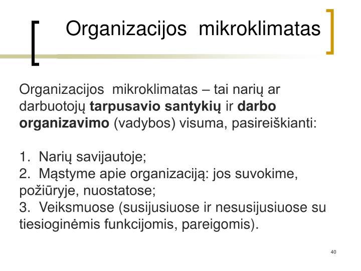 Organizacijos  mikroklimatas