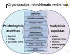 organizacijos mikroklimato vertinimas