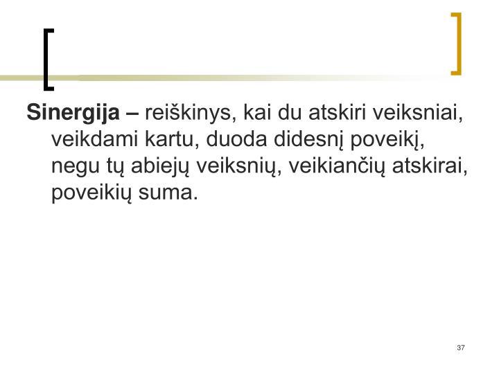 Sinergija –