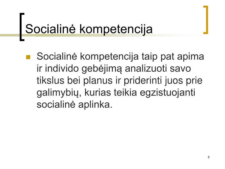 Socialinė kompetencija