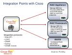 integration points with cisco