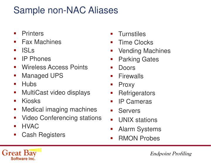 Sample non-NAC Aliases