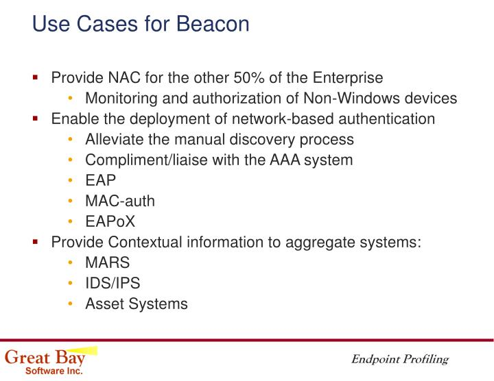 Use Cases for Beacon