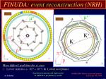 finuda event reconstruction nrh