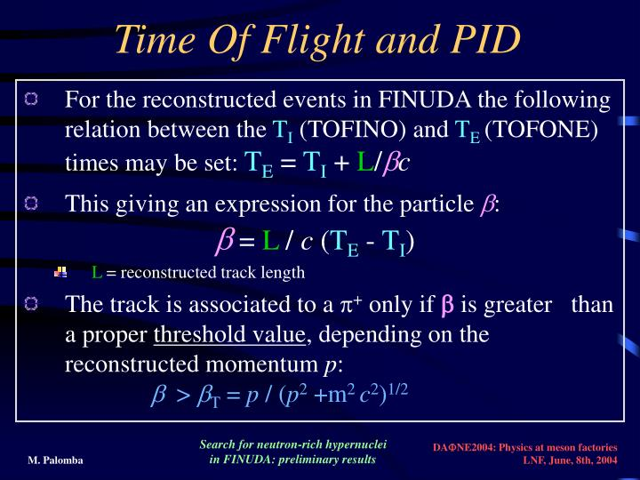 Time Of Flight and PID