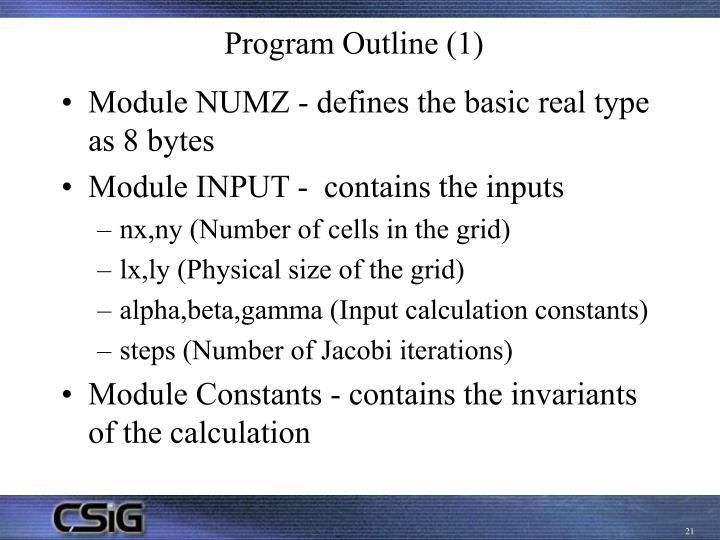 Program Outline (1)