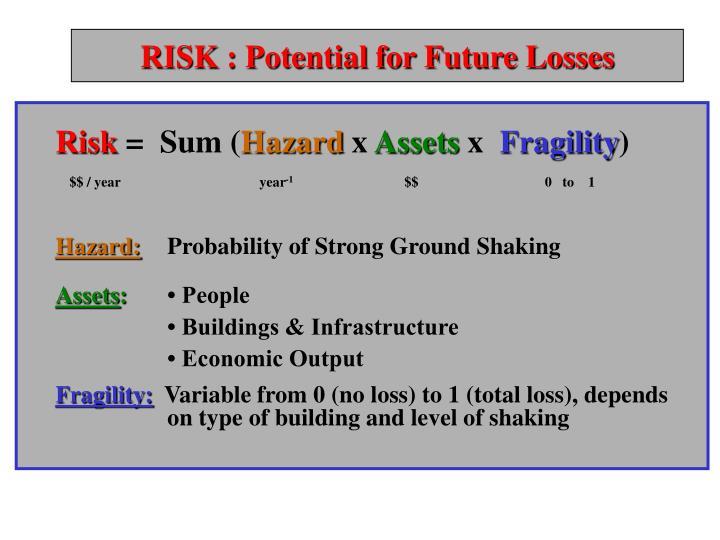 RISK : Potential for Future Losses