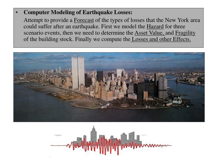 Computer Modeling of Earthquake Losses: