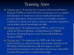 training aims
