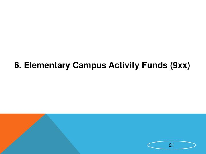 6. Elementary Campus Activity Funds (9xx)