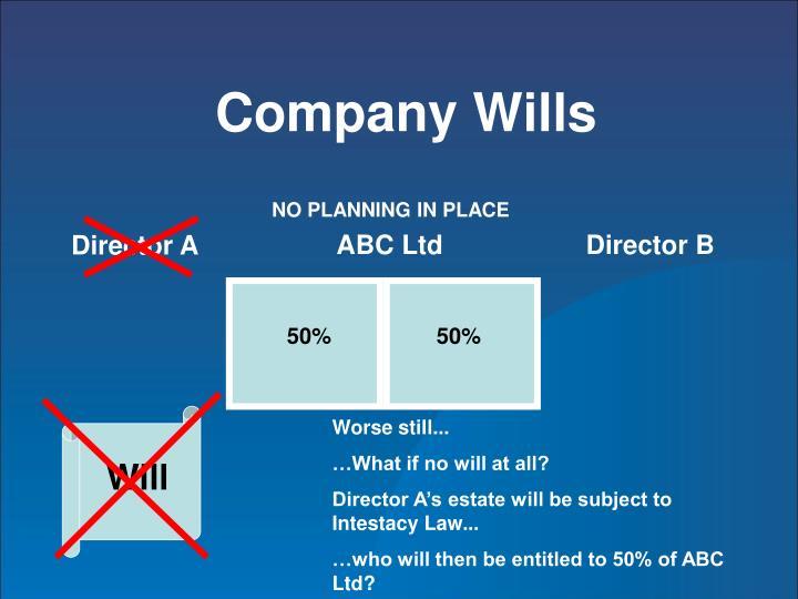Company Wills