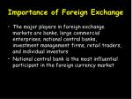 importance of foreign exchange1