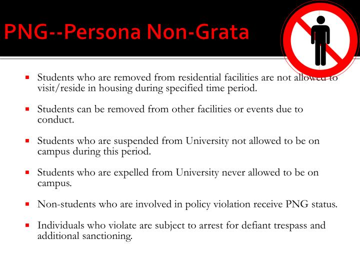 PNG--Persona Non-Grata