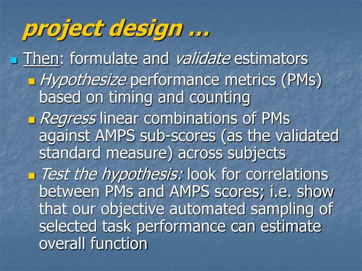 project design …