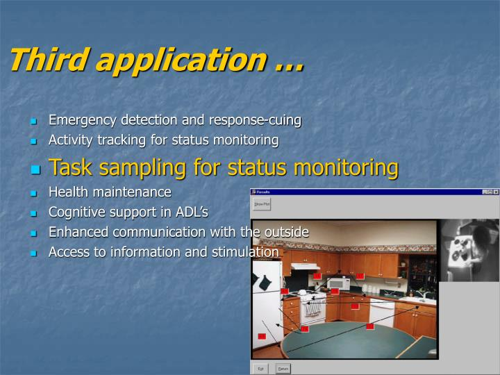 Third application …