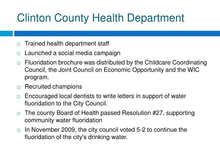 Clinton County Health Department