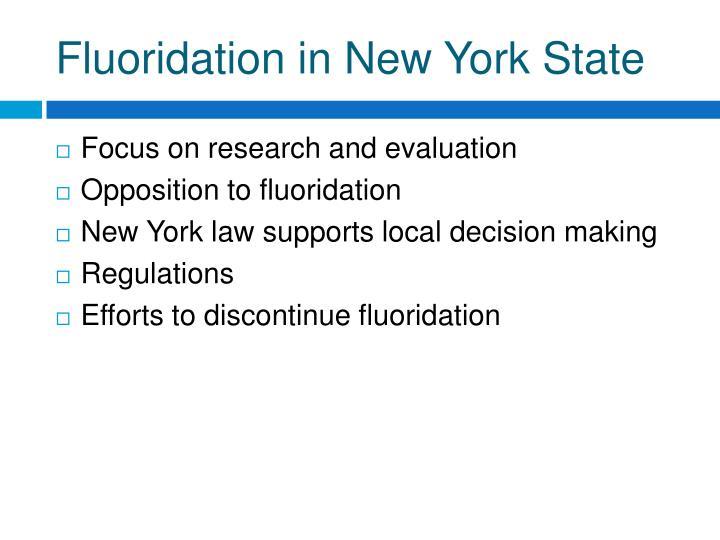 Fluoridation in New York State