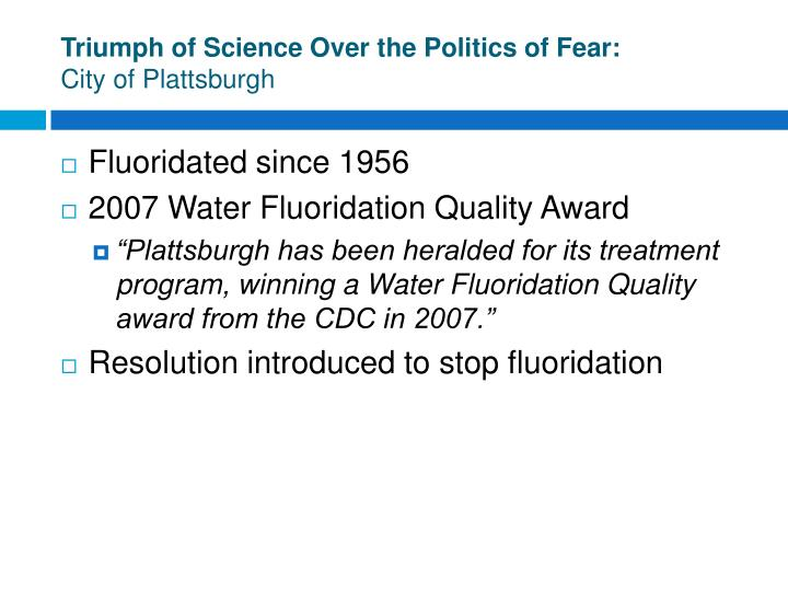 Triumph of Science Over the Politics of Fear: