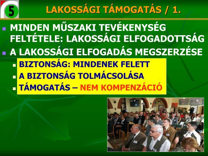 LAKOSSÁGI TÁMOGATÁS / 1.