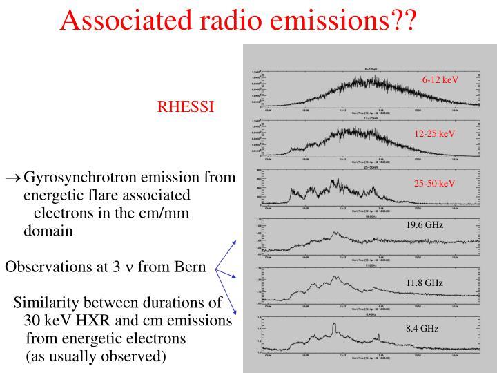 Associated radio emissions??
