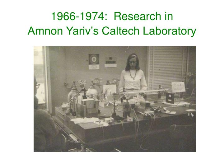 1966-1974:  Research in