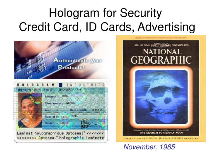 Hologram for Security