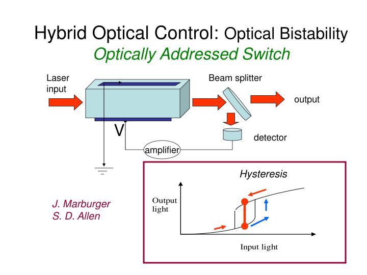 Hybrid Optical Control: