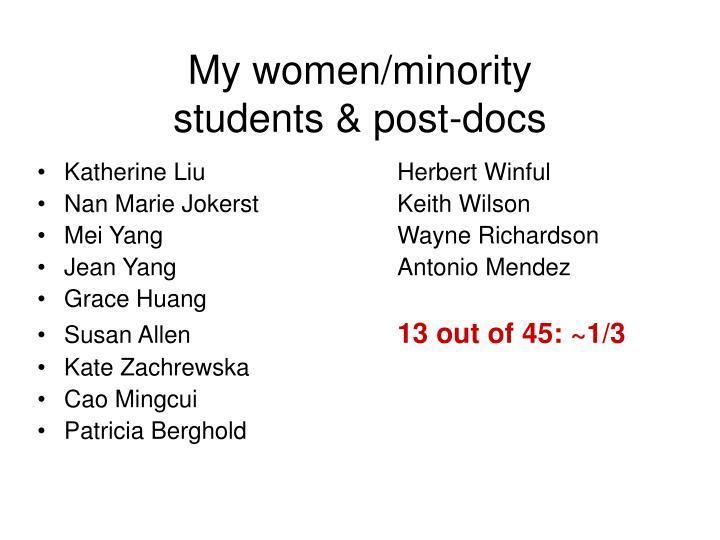 My women/minority