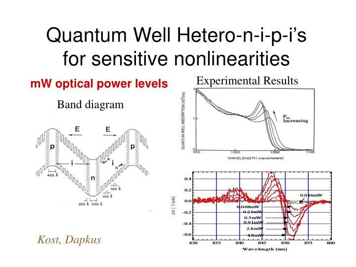 Quantum Well Hetero-n-i-p-i's