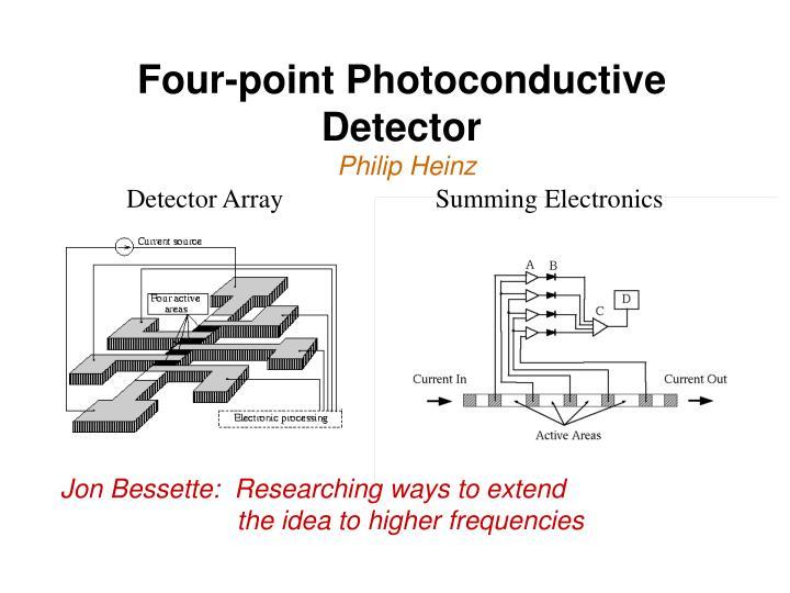 Four-point Photoconductive Detector