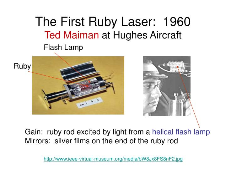 The First Ruby Laser:  1960