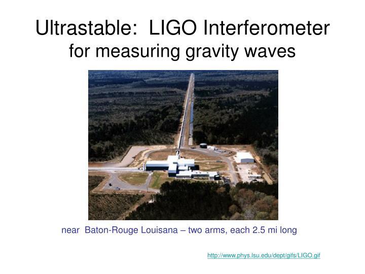 Ultrastable:  LIGO Interferometer