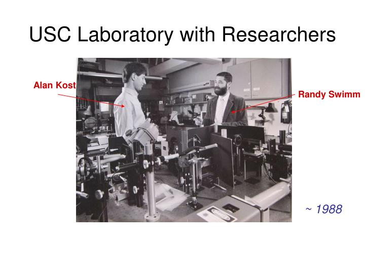 USC Laboratory with Researchers