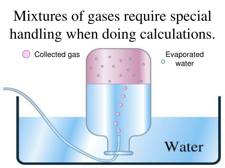 Mixtures of gases require special handling when doing calculations.