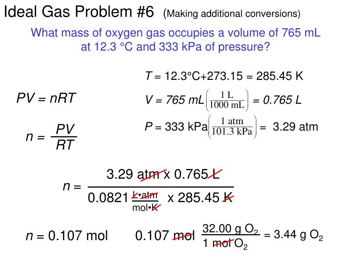 Ideal Gas Problem #6