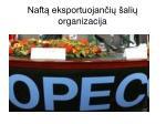 naft eksportuojan i ali organizacija