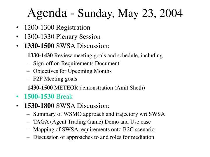 Agenda -