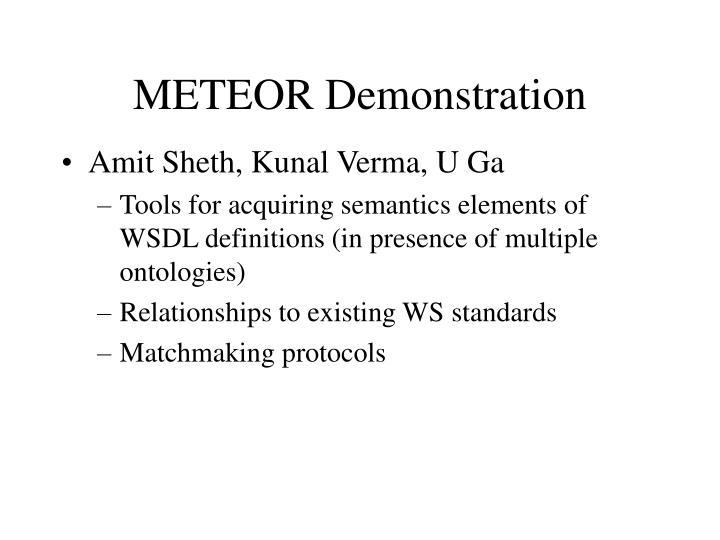 METEOR Demonstration