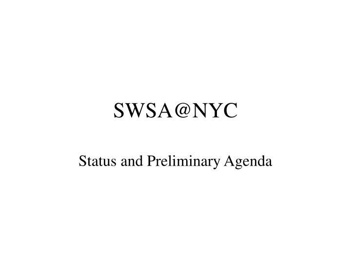 SWSA@NYC