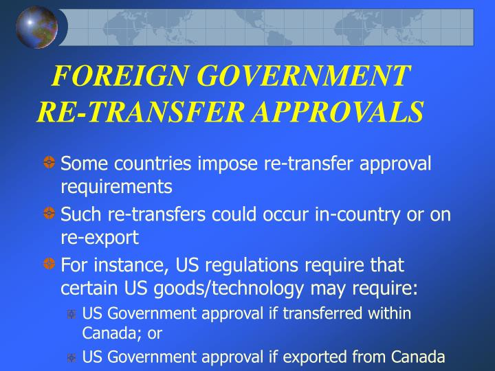 FOREIGN GOVERNMENT