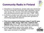 community radio in finland