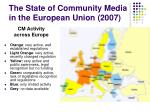 the state of community media in the european union 2007