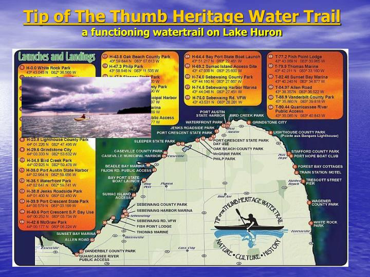Tip of The Thumb Heritage Water Trail