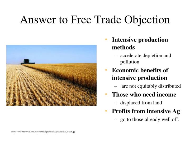 Answer to Free Trade Objection