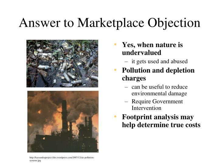 Answer to Marketplace Objection
