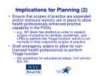 implications for planning 2