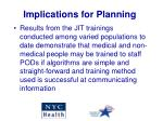 implications for planning