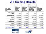 jit training results
