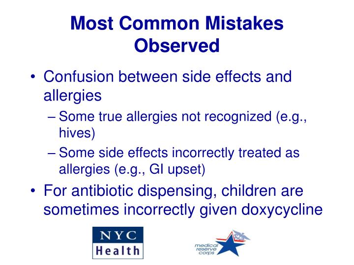 Most Common Mistakes Observed