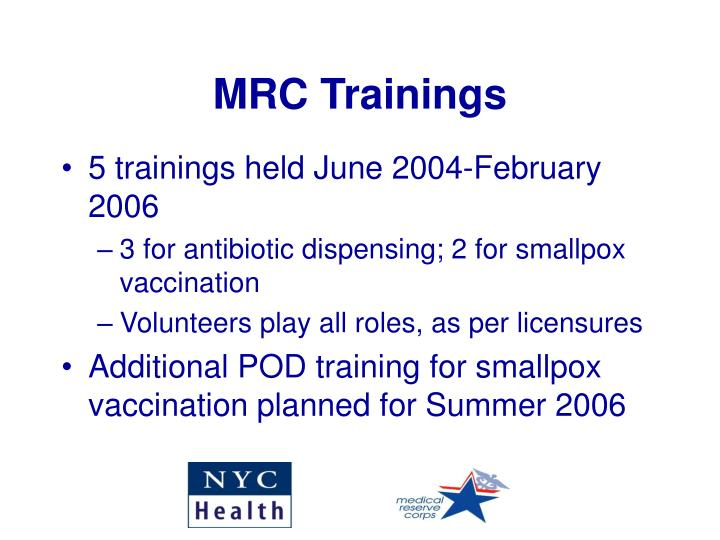 MRC Trainings